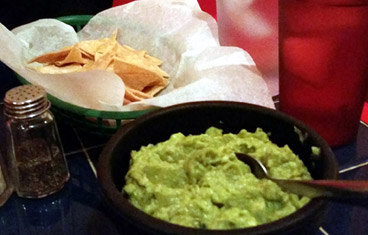 cocino mexicana chips and guacamole
