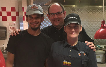 Matt and Crew at York Fuddruckers
