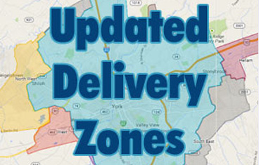 York PA Delivery Zones